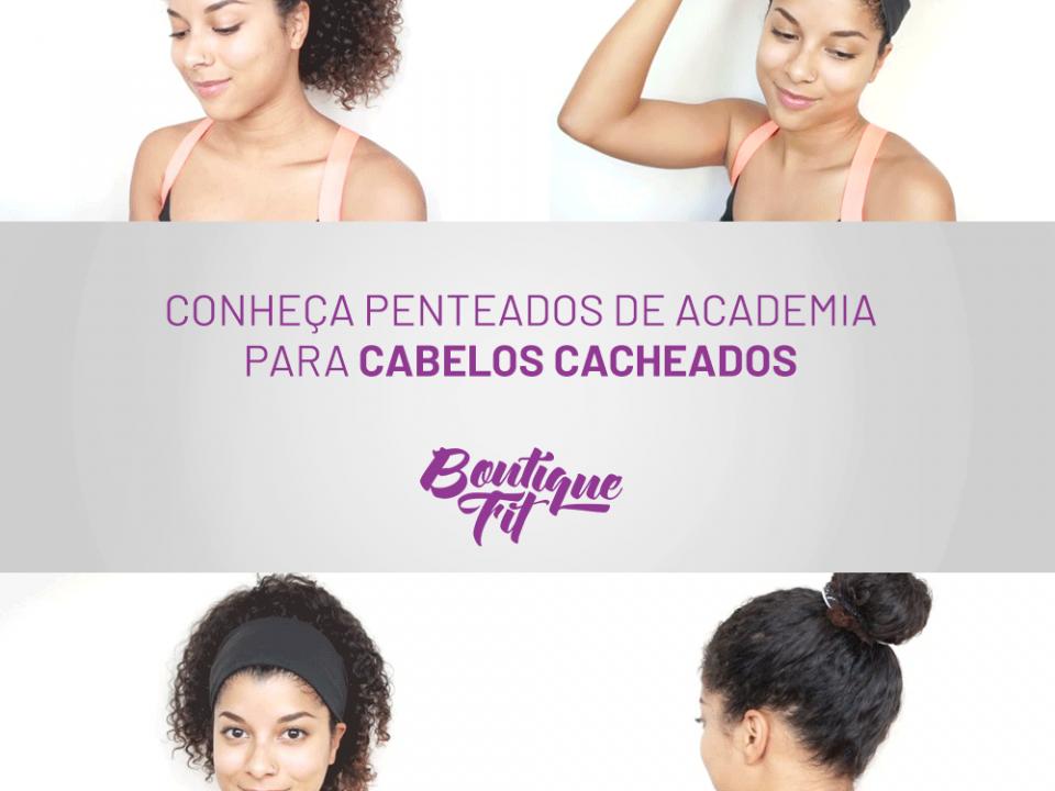 penteados de academia para cabelos cacheados