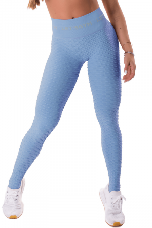 Legging Fitness Brocada Azul