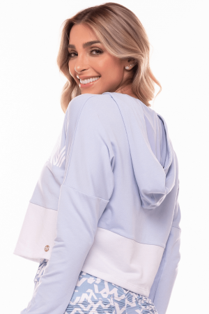 Blusa Moletom Donna Azul Garoa