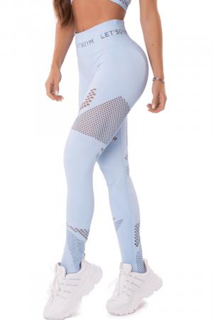 Calça Legging Seamless Emana Essence Azul