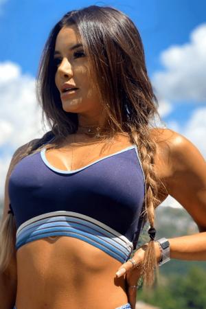Top Fitness Aurora Azul Marinho