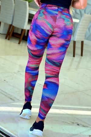 Legging Fitness Cós Frufru Multicolor
