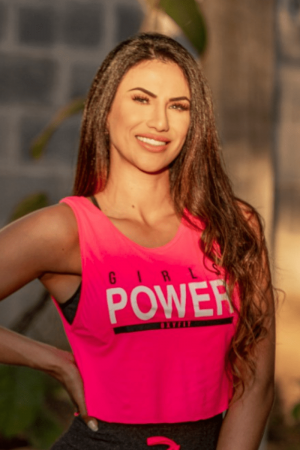 Cropped Fitness Pink Burn