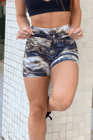 Shorts Fitness Empina Bumbum Marrom
