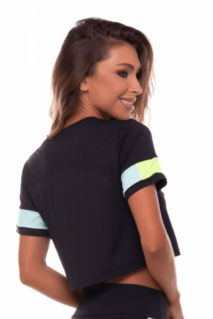 Blusa Dry Fit Lucky Preto