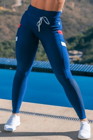 Legging Fitness Encinitas Azul Marinho