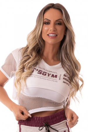Cropped Fitness 2 em 1 Made In Brazil