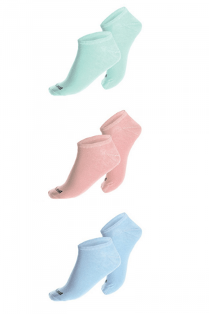 Kit C/3 Meias Invisível – Rosa / Azul / Verde